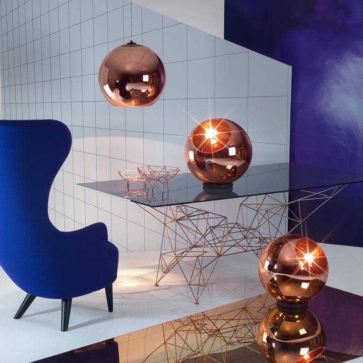 Copper Floor Lamp and Pendant Lamp