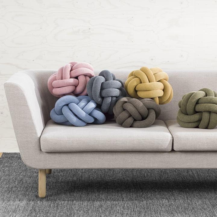 Knot Cushions on the Nest Sofa