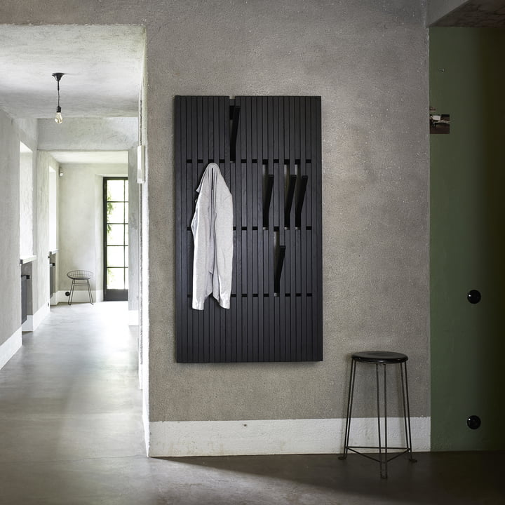 The Piano Hanger in varnished oak black (RAL 9005) in large by Peruse