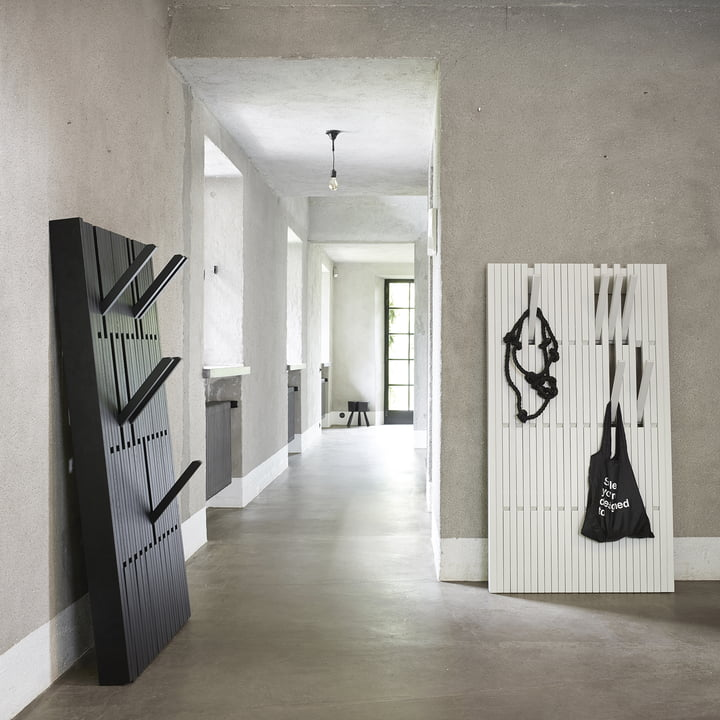 The Piano Hanger in oak black large and beech, white, large by Peruse