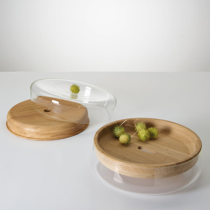 The Double Bowl in oak oiled / glass clear from Peruse