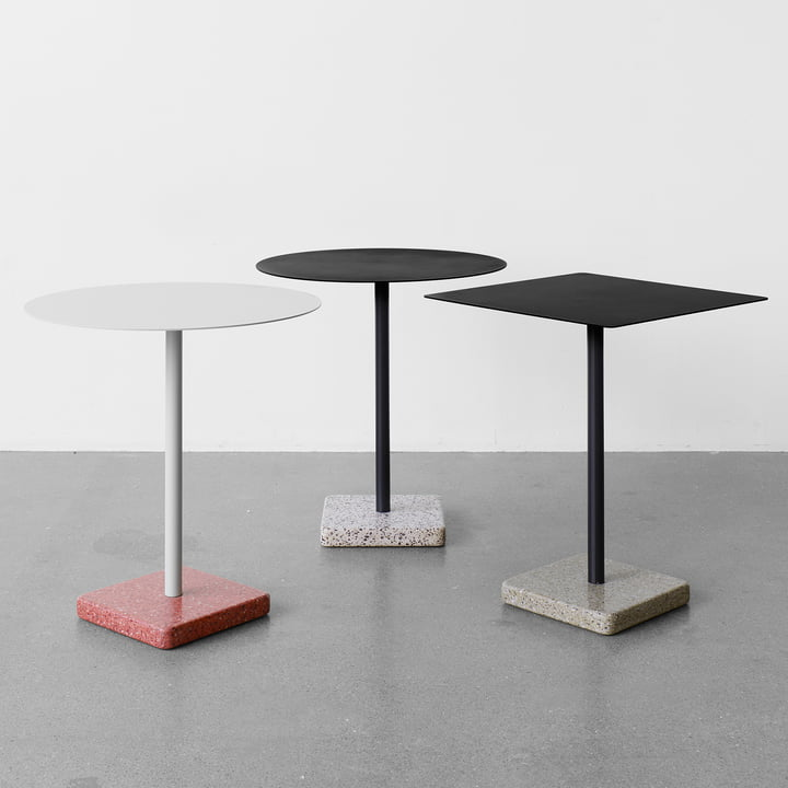 The Hay - terrazzo table in square and round shape