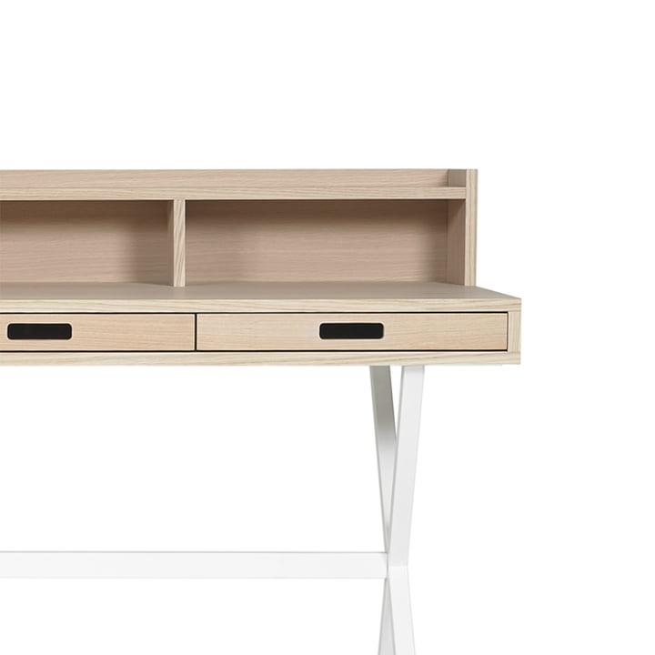 Secretary Hyppolite Desk with white Base