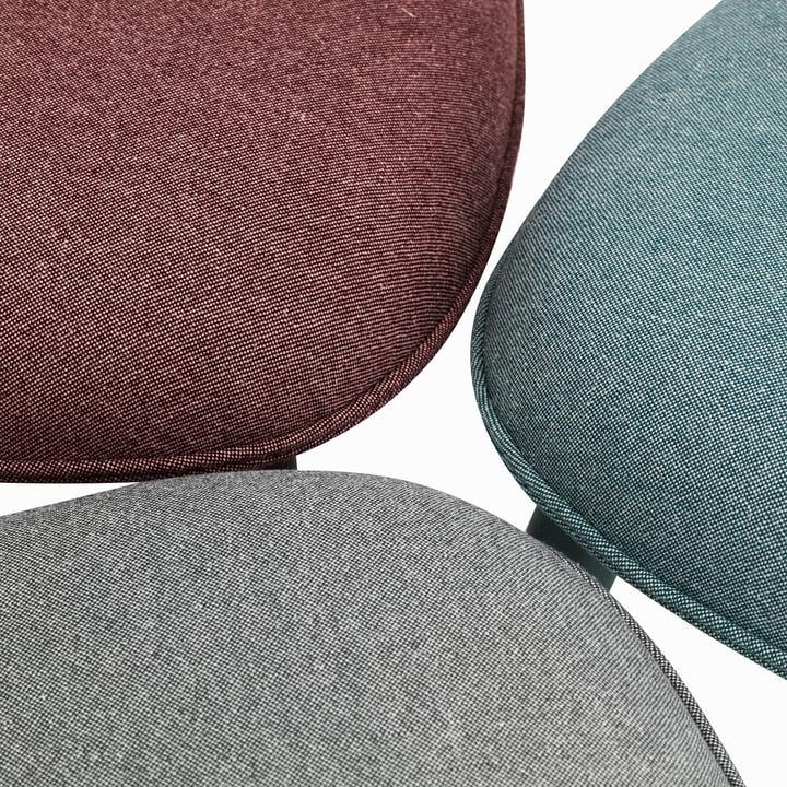 Normann Copenhagen - Ace Chair Nist, dark red / lake blue / grey