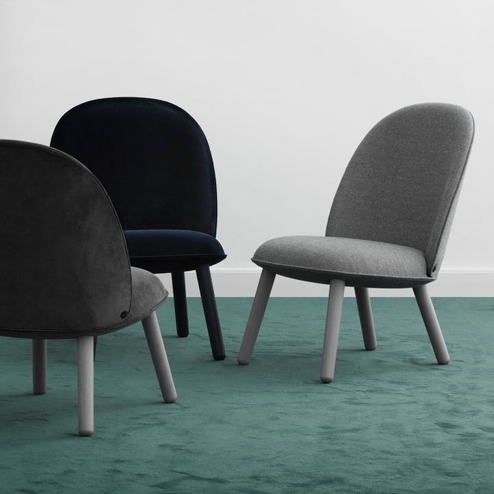 Comfortable Seating Group Ace Lounge Chair by Normann Copenhagen