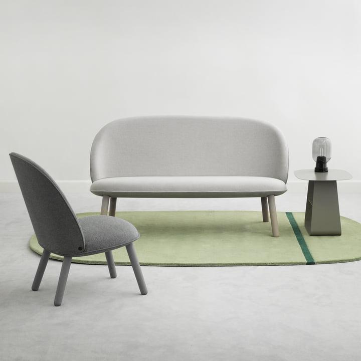 Normann Copenhagen - Ace Sofa Nist, beige - Ace Lounge Chair Nist, grey