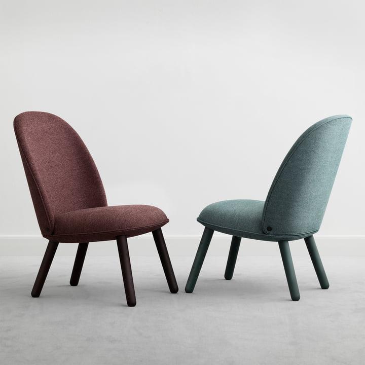 Normann Copenhagen - Ace Lounge Chair Nist, dark red / lake blue