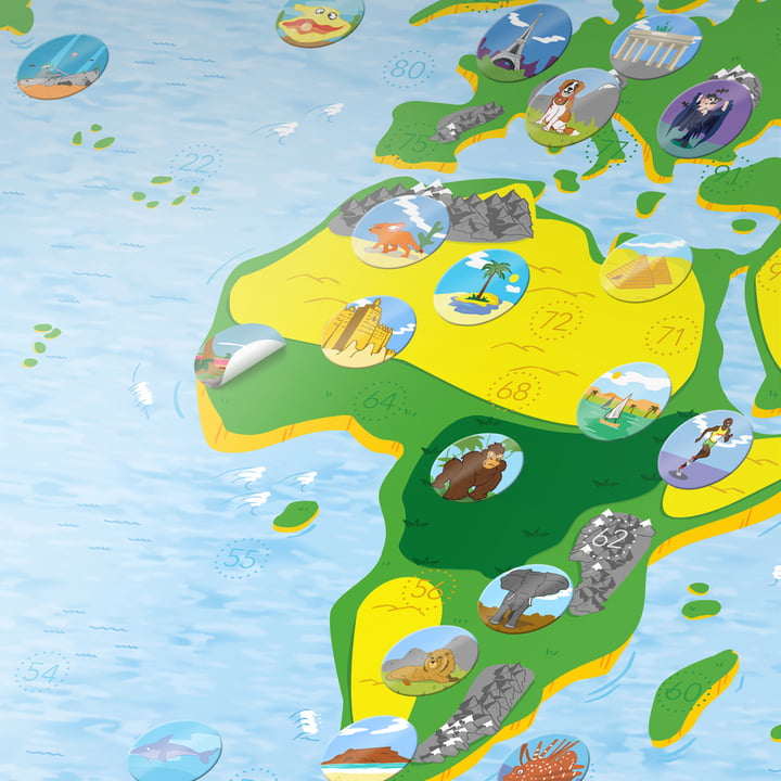 Kids Map from Awesome Maps with Stickers