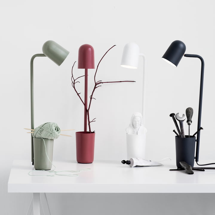 The northernlighting - Buddy Table Lamp in olive green, marsala red, white and black