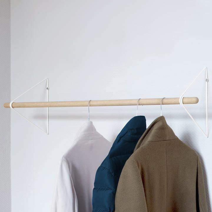 The vonbox - Spring Coat Rack in oak / white