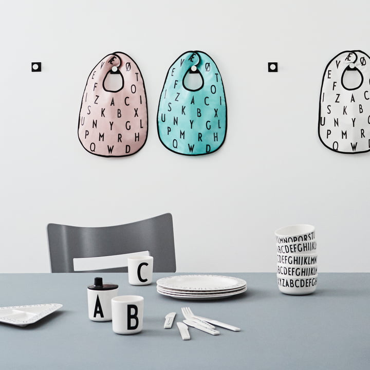 Kids tableware and toys with the ABC