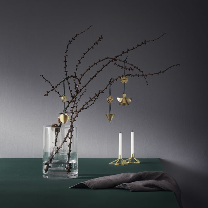 Tangle Star Candlesticks with Nordic Ornaments