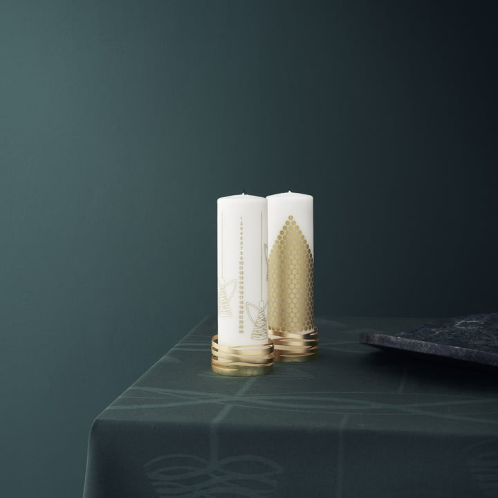 Tangle Block Candleholder by Stelton with Dots and Angel