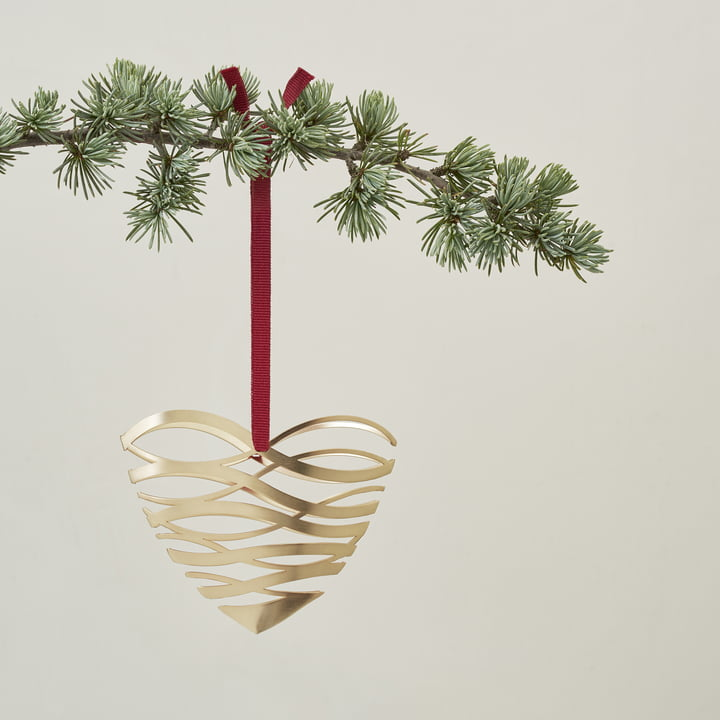 Tangle ornament heart by Stelton