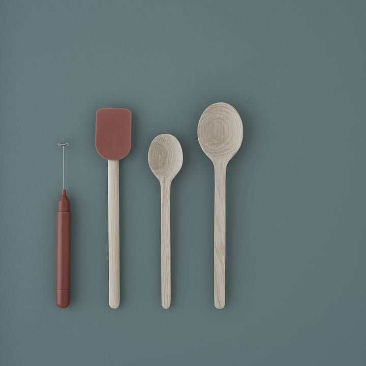 Frothy Milk Frother with Easy Cooking Spoon and Dough Scraper