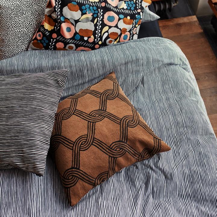 Marimekko - Sulhasmies Cushion Cover 50 x 50cm, brown / black