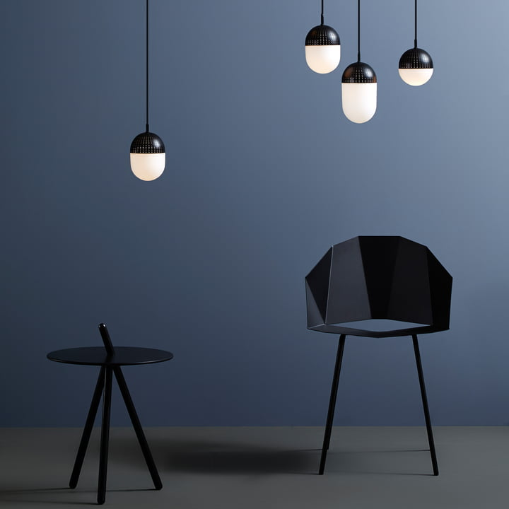 Dot Pendant Lamp and Come Here Side Table