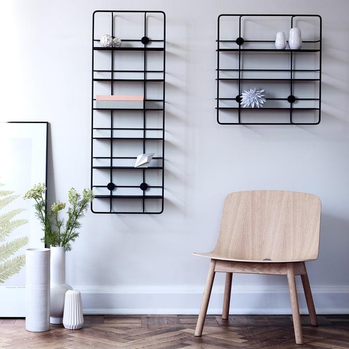 Coupé Shelf by Woud in Black