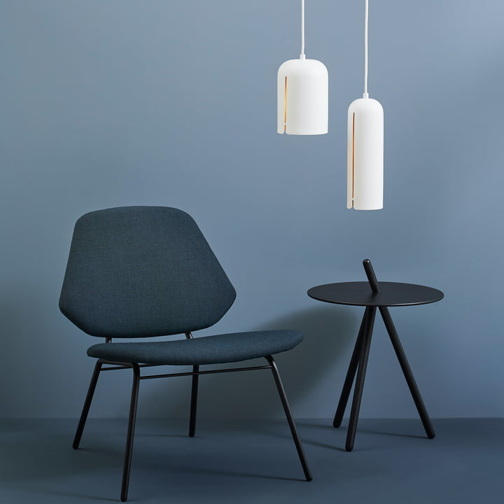 Gap Pendant Lamp and Come Here Side Table