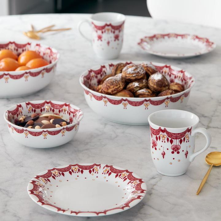 Christmas Tableware by Bjørn Wiinblad