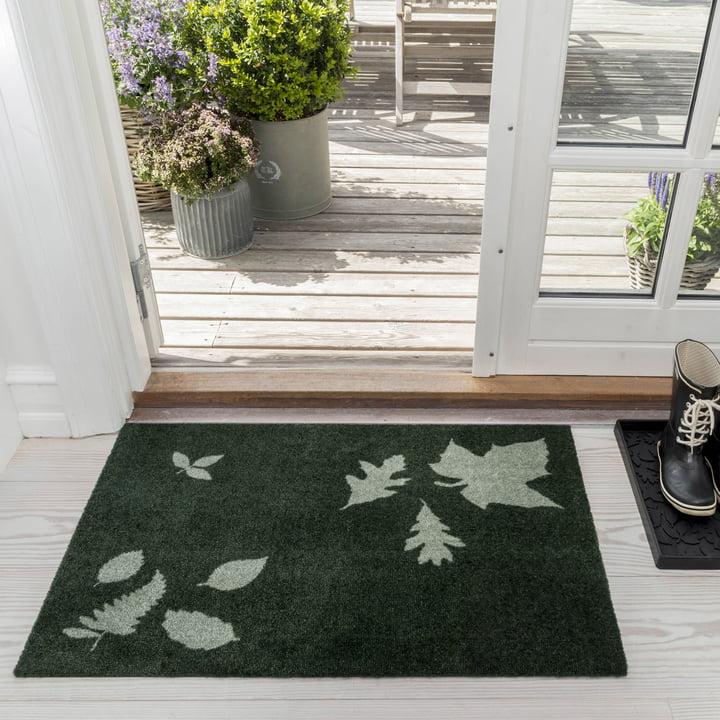 The tica copenhagen - Leaf Mega Doormat in 60 x 90 cm, green