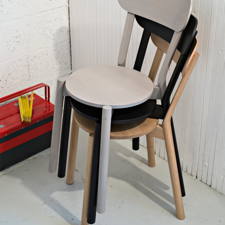Stackable Castor chair by Karimoku New Standard