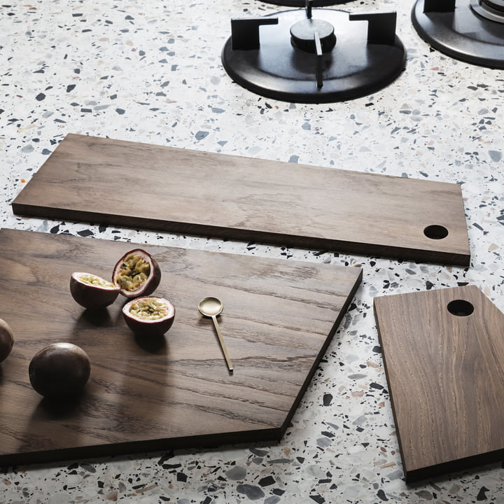 Asymmetric Cutting Board in Small, Medium and Large