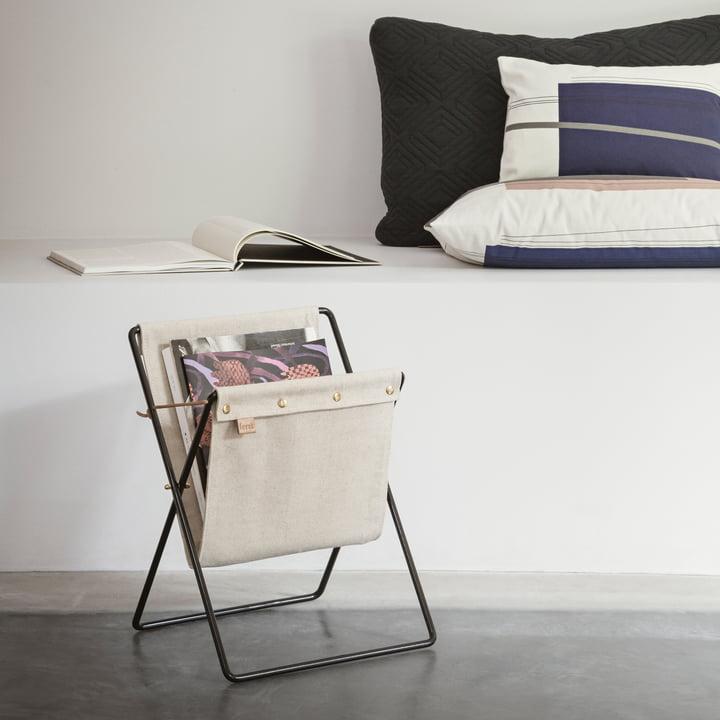 Herman Magazine Holder with Colour Block Cushion