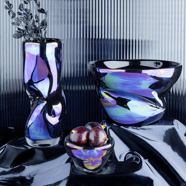 Warp Bowl and Vase by Tom Dixon