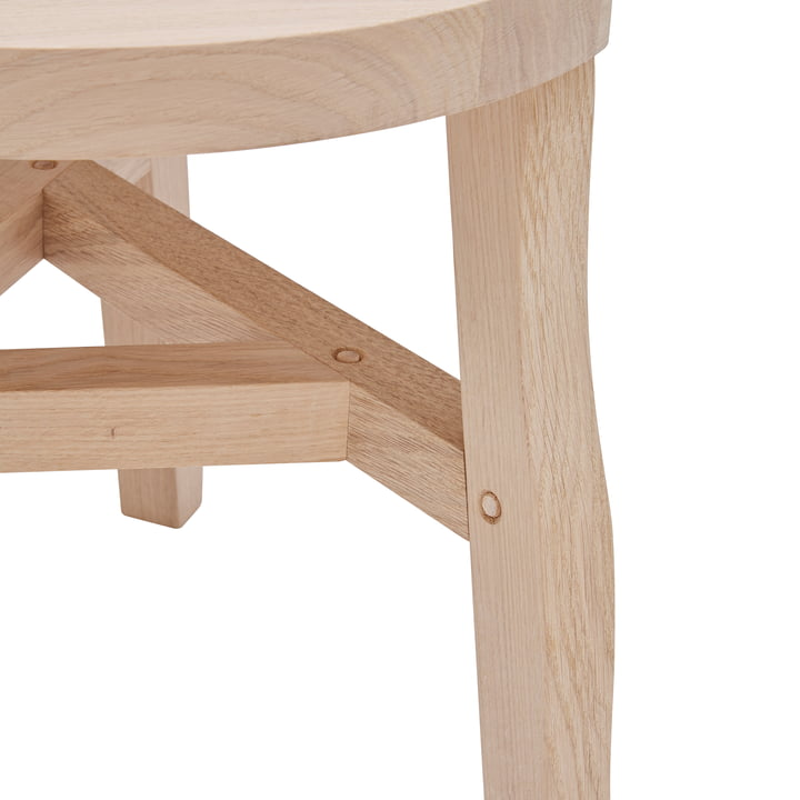 The Offcut Side Table in oak natural by Tom Dixon