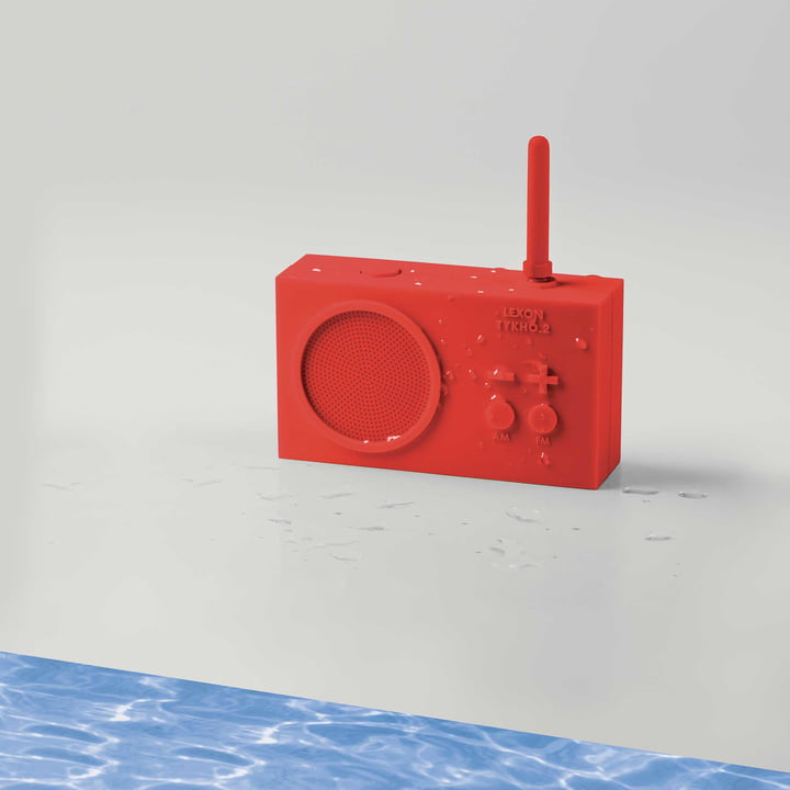 Tykho 2 Radio by Lexon in Red