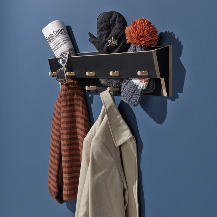 Wall-mounted Coat Rack with Storage Compartment
