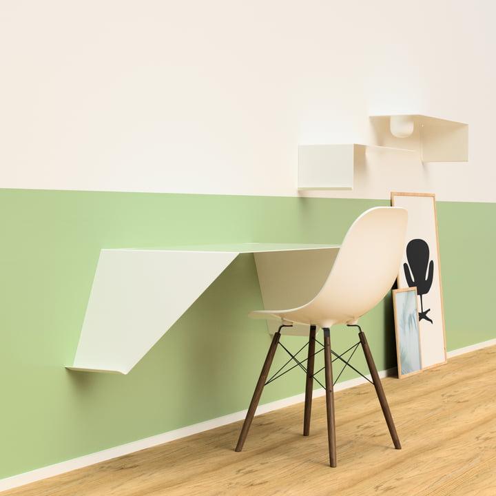 Desk01 by Nichba Design in white