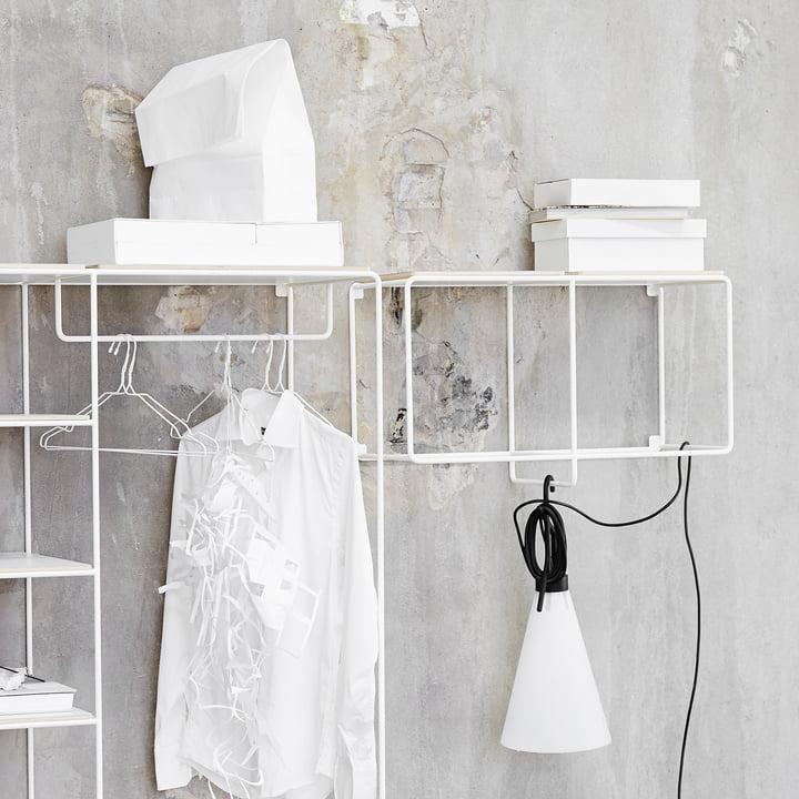Korridor - AnyWhere 1 x 2 wall shelf with coat rack