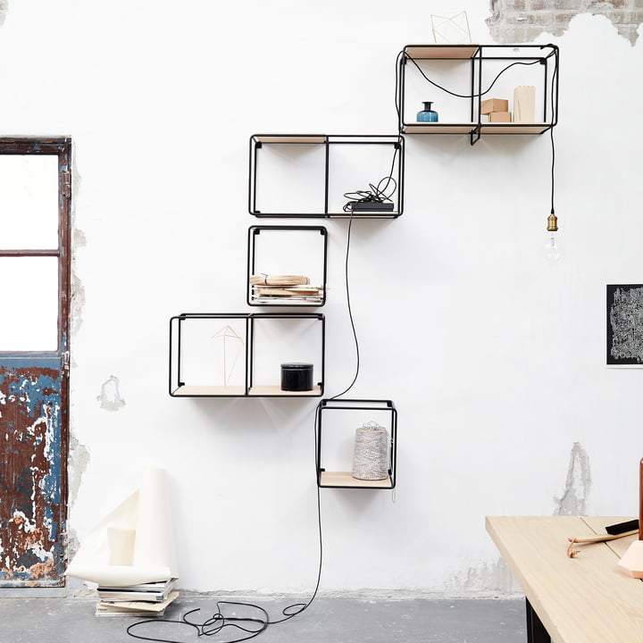 Korridor - AnyWhere 1 x 2 wall shelf with wardrobe