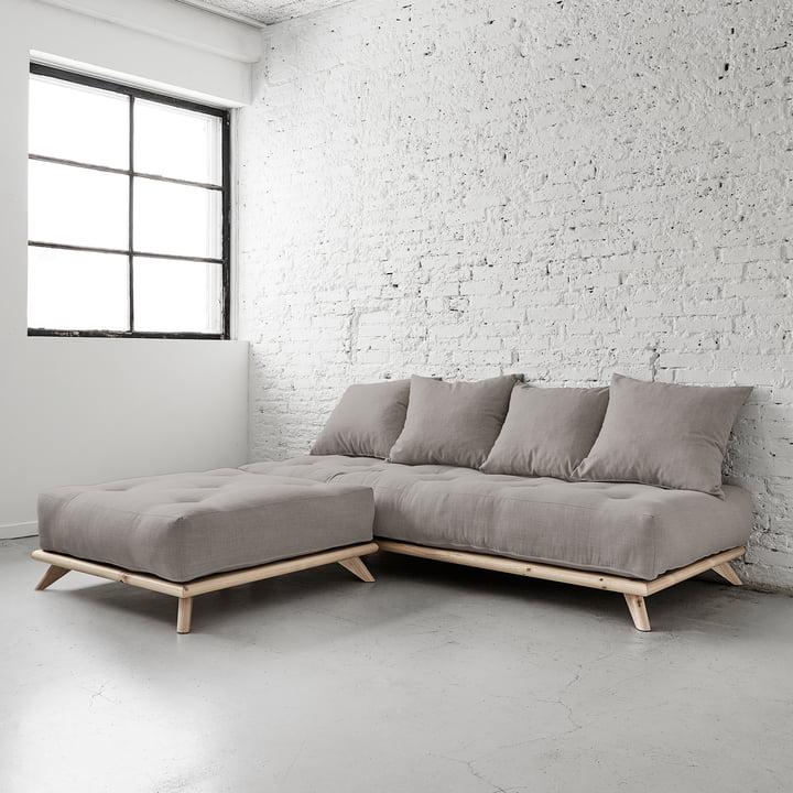 Senza Ottoman and Sofa by Karup