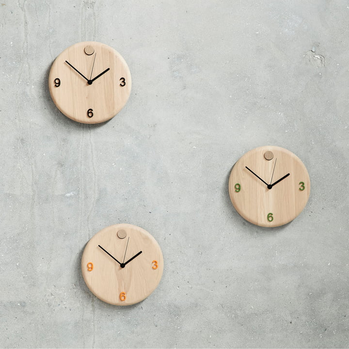 Wood Time clock by Andersen Furniture