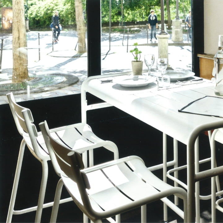 Luxembourg Bar Stools and Table from Fermob