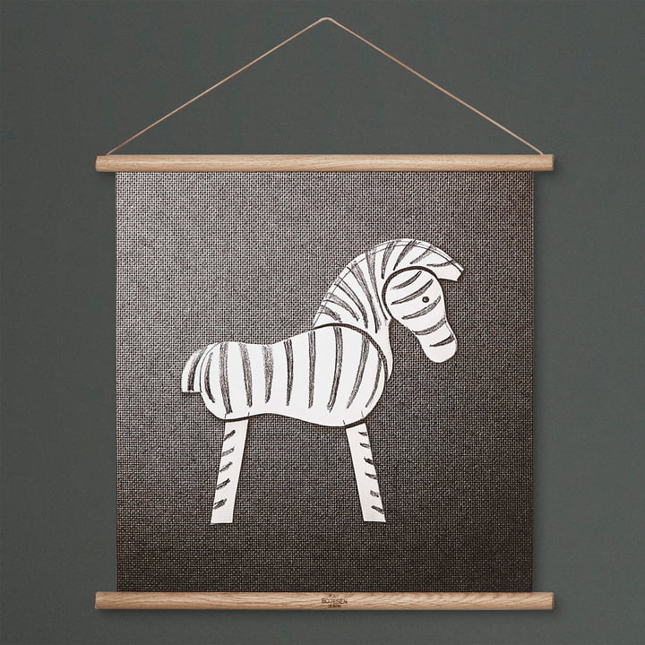 Zebra Drawing by Kay Bojesen Denmark