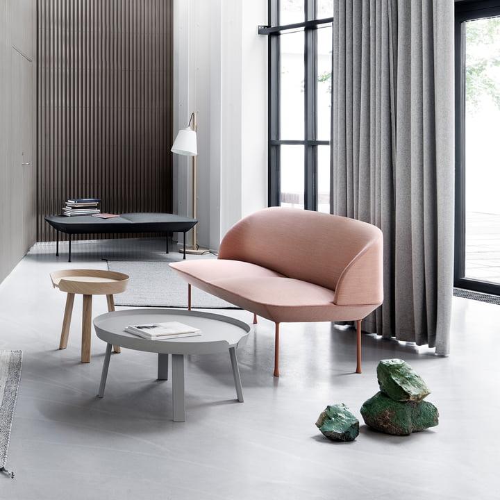 Muuto - around coffee table - Oslo sofa - light pull