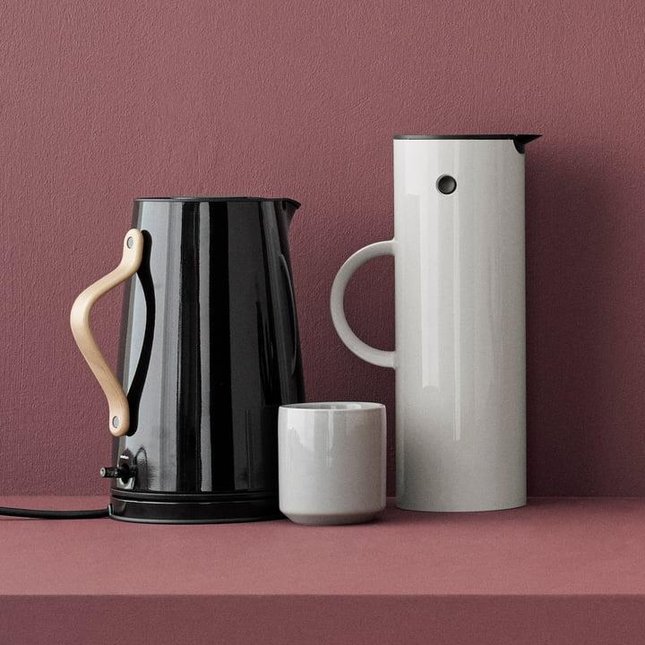 Core thermos mug, Emma kettle and EM 77 vacuum jug by Stelton
