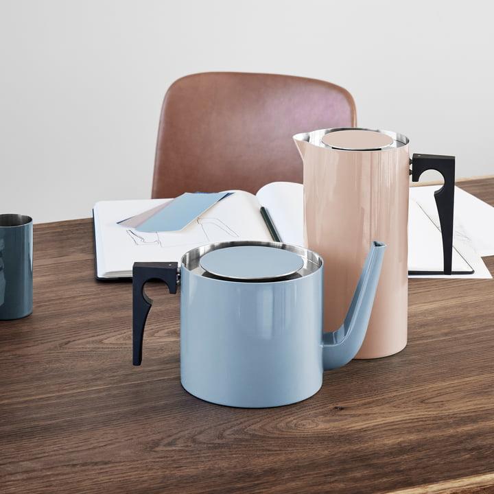 Stelton - Cylinda Line tea pot and coffee jug