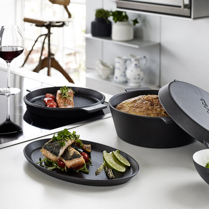 Grill plate and cocotte by Morsø