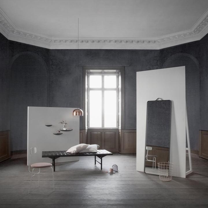 The Norm floor mirror in mystical surroundings