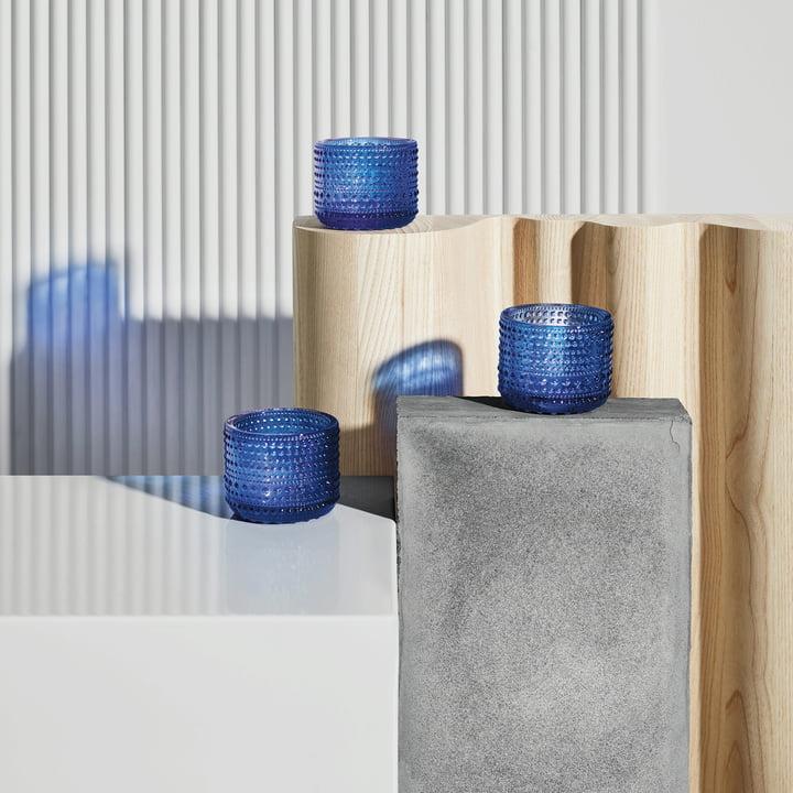Kastehelmi votive 64 mm by Iittala in ultramarine blue