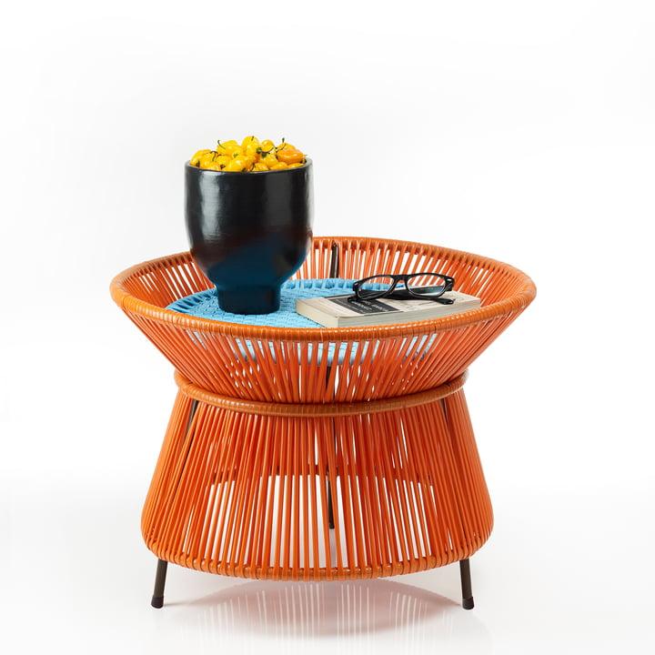 ames - caribe Basket Table, orange / turquoise / brown