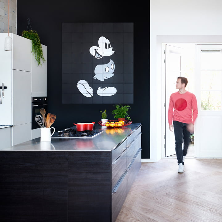 Mickey Mouse by IXXI in Black and White
