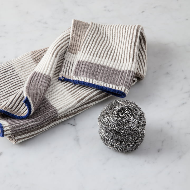 Akin Knitted Dishcloth and Teatowel by ferm Living in beige