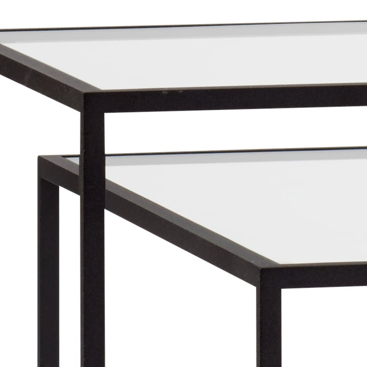 Spectrum - Tangled Side Table, clear glass / black
