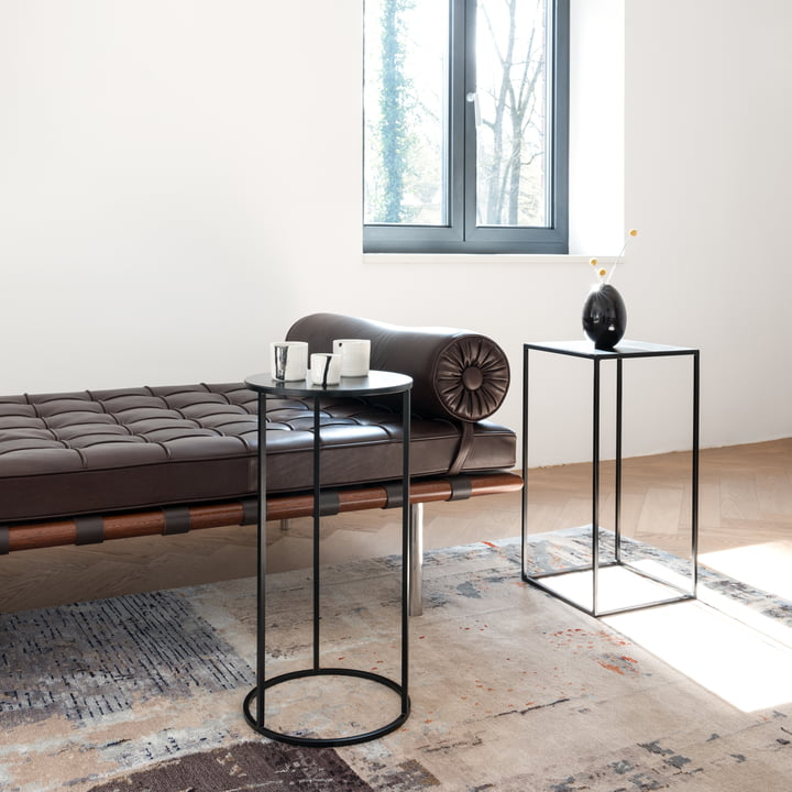 The Rack umbrella stand & side table by Schönbuch